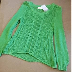 Anthropologie Sparrow green Howthe sweater NWT